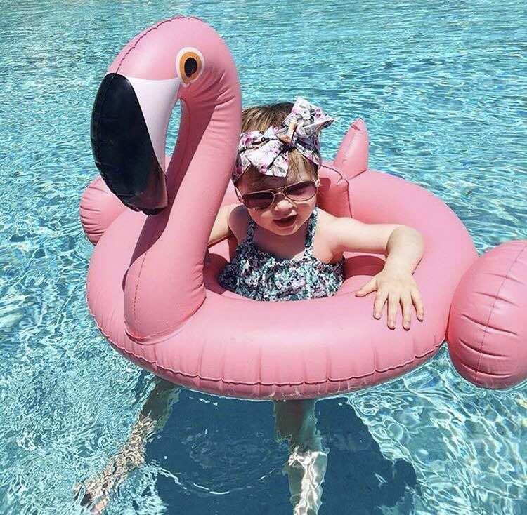 Детский круг фламинго