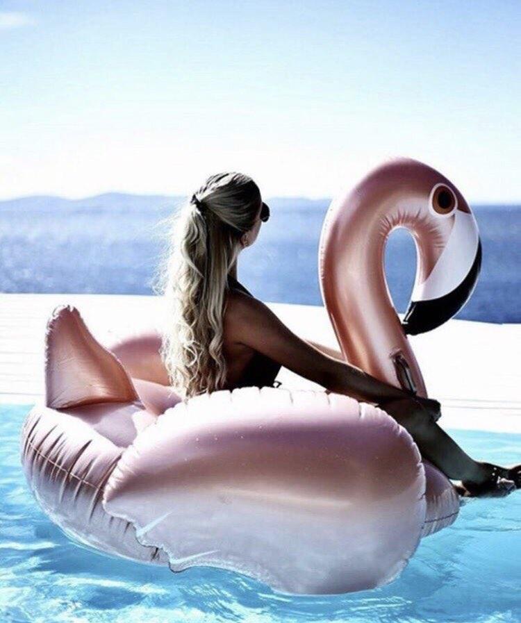 Золотой фламинго 150см